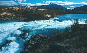 Rio Baker en Patagonia.