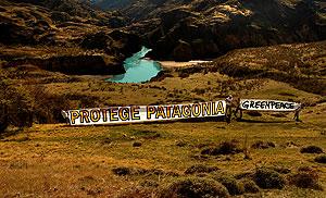 Acción Greenpeace en Patagonia