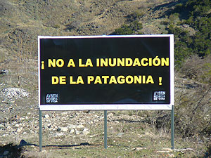 Cartel en Patagonia (Chile)