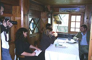 Conversación con periodistas chilenos.