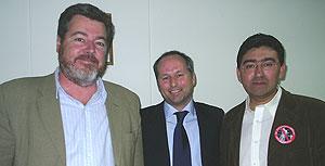 Con el Ministro de Energá chileno, MarceloTokman