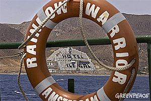 Acción del Greenpeace en el hotel ilegal de El Algarrobico