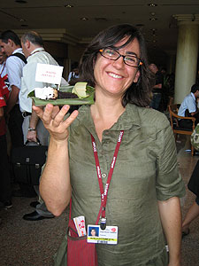 Raquel Montón, responsable de la campaña de cambio climático de Greenpeace en Bali