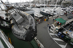 Imagen del barco de Greenpeace Arctic Sunrise