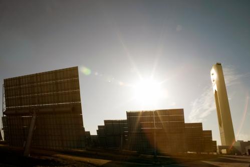 Planta solar en Sanlúcar la Mayor, Sevilla. Foto: Markel Redondo/Greenpeace