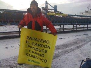 Zapatero, el carbón produce cambio climático
